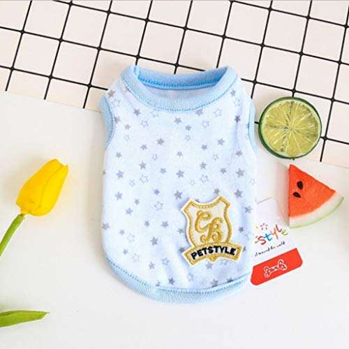 Mini Dog Vest Spring Summer Newborn Puppy Tiny Clothes for Kittens Pet Milk Dog Shirt Vest XXS XS for Teacup (XXS(Chest 10.2