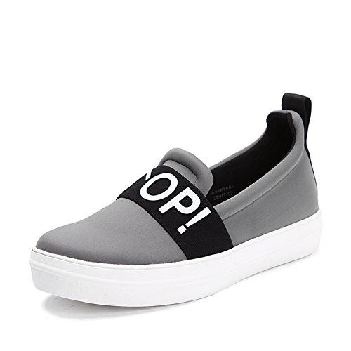 Resorte/aceite en la lona zapatos de plataforma/Las mujeres zapatos de pedal/Zapatos de suela gruesa gris
