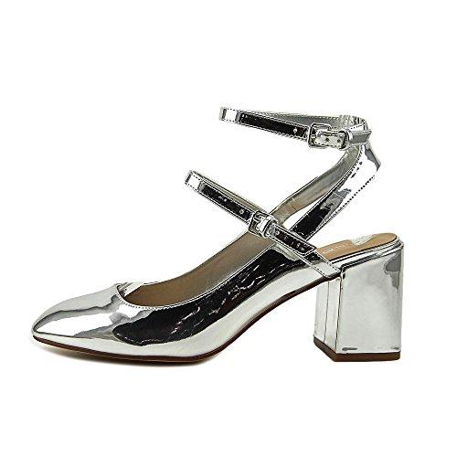 ALDO Womens Pergine Closed Toe Ankle Strap Classic Pumps Silver F1dAgJvWR