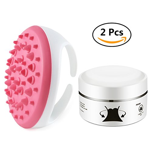 Cellulite Cream, iFanze 2 in 1 Cellulite Remover Multiple Effects Slimming Cream Massage Brush for Shaping Legs Abdomen Buttocks Skin firming Slimming Fat Burning to Reduce Cellulite