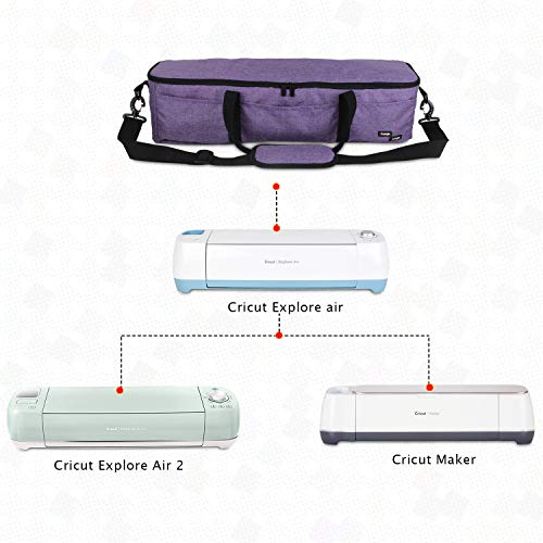 Luxja Foldable Bag Compatible with Cricut Explore Air and Maker, Carrying Bag Compatible with Cricut Explore Air and Supplies (Bag Only), Purple by LUXJA (Image #6)