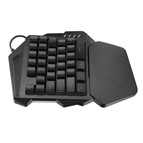 Backlit Keyboard, One‑Handed Keyboard Wired RGB Keyboard Gaming Keyboard Plug and Play Keyboard for Win2000 Win XP…