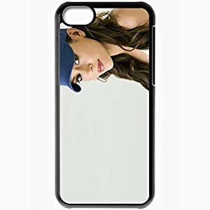 Personalized iPhone 5C Cell phone Case/Cover Skin Alyssa Milano Black