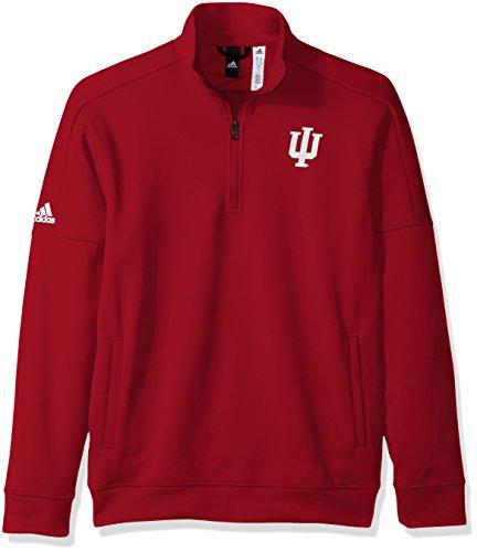 (adidas NCAA Indiana Hoosiers Mens Lc Logo Team Issue Fleece 1/4 Zip Pulloverlc Logo Team Issue Fleece 1/4 Zip Pullover, Victory Red, Medium)