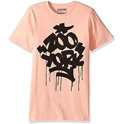 Zoo York Men's Short Sleeve Graffiti Print Tee, Fat N Juicy Chai, Small