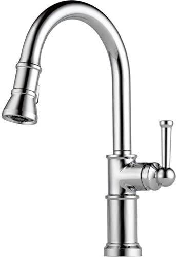 Brizo 63025LF Pullout Spray High-Arc Kitchen Faucet with MagneDock, Diamond Seal, Brilliance Polished Nickel