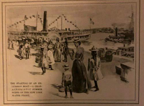 1901 New York City Waterfront Battery Park Brooklyn Bridge Recreation Piers ()