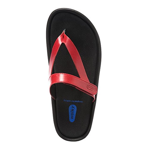 3204 Red Sandals Smooth Jewel Womens Wolky Leather Zw4qzzp