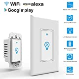 Arvin Light Switch, Work with Alexa In Wall Light Switch Mobile Phone APP Remote Alexa Control Sensitive Touch Wireless Light Swtich
