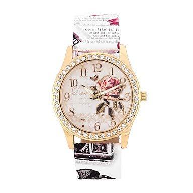 Relojes Hermosos, Mujer Reloj Casual Reloj de Moda Simulado Diamante Reloj Cuarzo La imitación de diamante ...