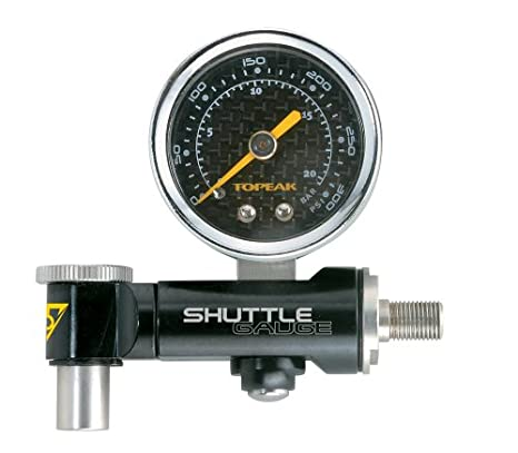 : Topeak Shuttle Air Pressure Gauge Dial with Case: Sports ...
