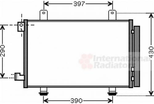 Klimaanlage VAN WEZEL 52005090 Kondensator