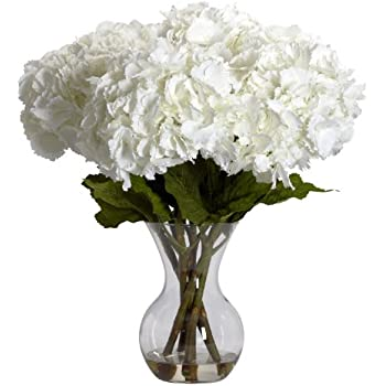 Amazon Nearly Natural 1314 Blooming Hydrangea With Vase
