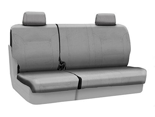 Coverking Custom Fit Rear 60/40 Bench Seat Cover for Select Chevrolet Trailblazer Models - Ballistic (Light Gray)