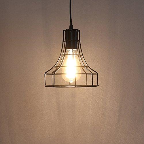 Vintage Metal Pendant Lamps Lighting Chandelier Light Industrial Loft Retro Metal Wire Cage Black Chandelier Hanging E27 Pendant Light Fixture