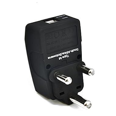 Ceptics 2 USB S. Africa Travel Adapter 4 in 1 Power Plug (Type M) - Universal Socket
