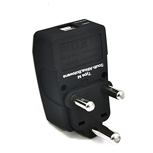 Ceptics GP4-10L 2 USB S. Africa Travel Adapter 4 in 1 Power Plug (Type M) - Universal Socket