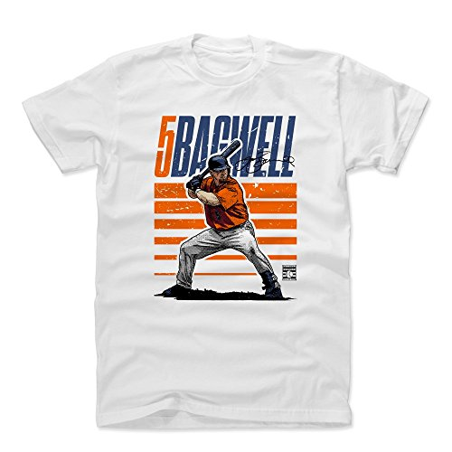 - 500 LEVEL Jeff Bagwell Cotton Shirt (XX-Large, White) - Houston Astros Men's Apparel - Jeff Bagwell Starter O
