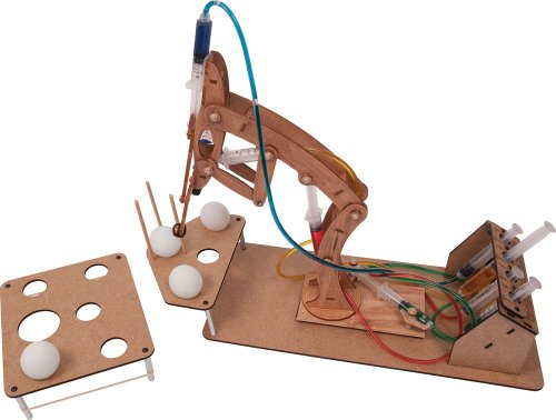 Price comparison product image Pitsco Laser-Cut Basswood T-Bot II Hydraulic Arm with Challenge Set