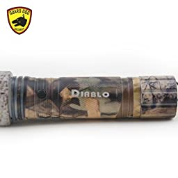Guard Dog Security Diablo Military Edition Tactical Flashlight with Stun Gun, 160 Lumen  (Camouflage)