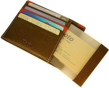 Milano Leather Card Case Color: Vecchio Brown