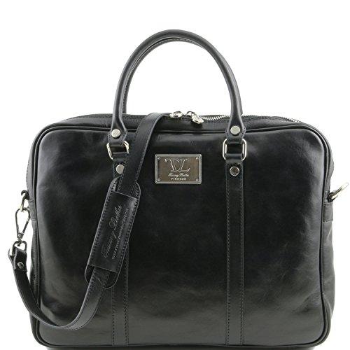 Tuscany Leather - Serviette en cuir - Noir