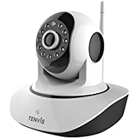 TENVIS Pet Camera - Indoor Security Camera Wireless IP Camera Baby Monitor Surveillance Camera Nanny Cam With Two-way Audio, Night Vision Camera, 2.4GHz & HD 720P WiFi Camera Pan Tilt Motion Detection