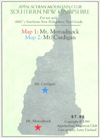 CardiganMonadnock Southern New Hampshire Trail Guide Map T