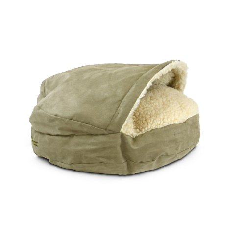 Snoozer Luxury Orthopedic Cozy Cave Pet Bed, Small, Peat, My Pet Supplies