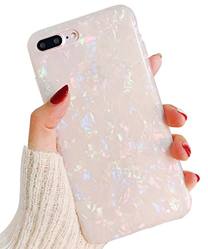 J.west iPhone 8 Plus Case/iPhone 7 Plus Case, Cute Ultra Thin [Tinfoil Series] Macaron Color Bling Lightweight Soft TPU Case Cover for iPhone 7 Plus / 8 Plus -