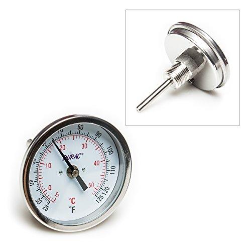 Pack of 5 pcs SP Scienceware 61310-7800 DURAC Bi-Metallic 3 Dial Thermometer