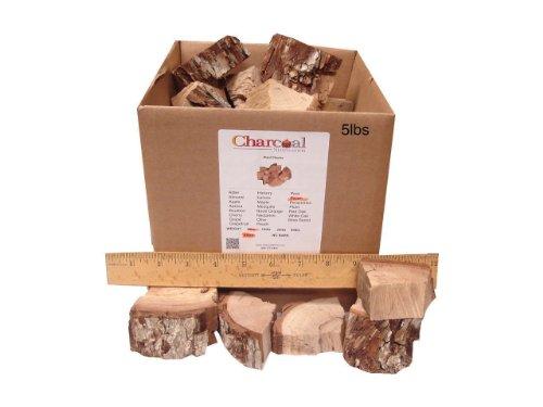 (CharcoalStore Pecan Smoking Wood Chunks - Bark (5 Pounds))