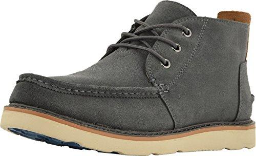 TOMS Men's Chukka Boot Waterproof Dark Grey Oiled Suede Size 10.5 ()