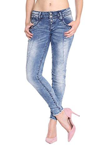 Blue Monkey Jeans Vaqueros - Skinny - Liso - para Mujer Azul