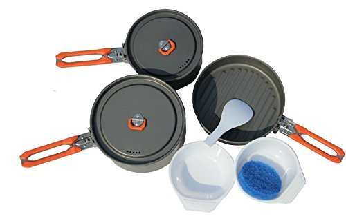 Fire-maple Fire Maple 2-3 Person Camping Pot Cooking Set Picnic Cookware Feast-3 w/ Bag by Fire-Maple