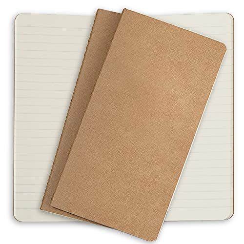 - Lined Travelers Notebook Paper Refills 3 Pack Cream Ruled Inserts for Standard Refillable Travellers Leather Travel Journals - 8.5 x 4.5. Soft Cover Thick Spare Lined Paper Insert for TN Travel Diary
