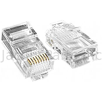 amazon com  ubigear 100 pcs pass through cat5e rj45