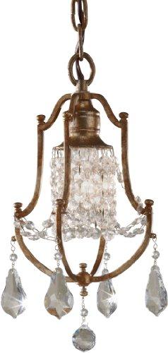 Feiss F2624/1OBZ, Valentina Mini Crystal Chandelier Lighting, 1 Light, 100 Watts, Bronze from Murray Feiss