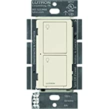 Lutron Caseta Wireless Smart Lighting Switch for All Bulb Types and Fans, PD-6ANS-LA, Light Almond, Works with Alexa, Apple HomeKit, and the Google Assistant