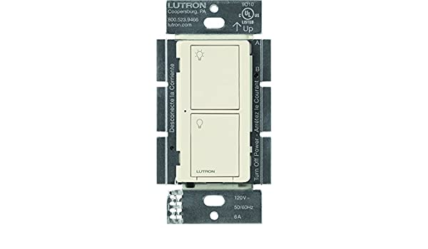 Lutron pd-6ans-wh caseta Wireless Neutral en la pared de múltiples Interruptor, 6 AMP, color blanco: Amazon.es: Bricolaje y herramientas