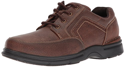 Rockport Men's Eureka Plus Mudguard Oxford, Brindle Brown, 10 W US by Rockport