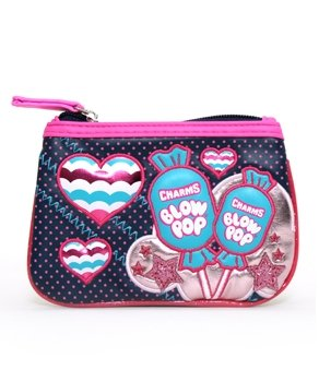 Coin Bag  Blow Pop  New Pop w Hearts Girls Wallet Purse Case Licensed tcb0059
