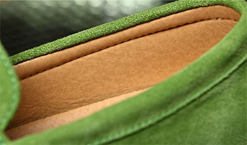 in Mocassini Slip per Green Shoes Casual Mocassini Fluores scamosciata blu scuro Scarpe Uomo pelle uomo Hombre On Homme q6OwTXx