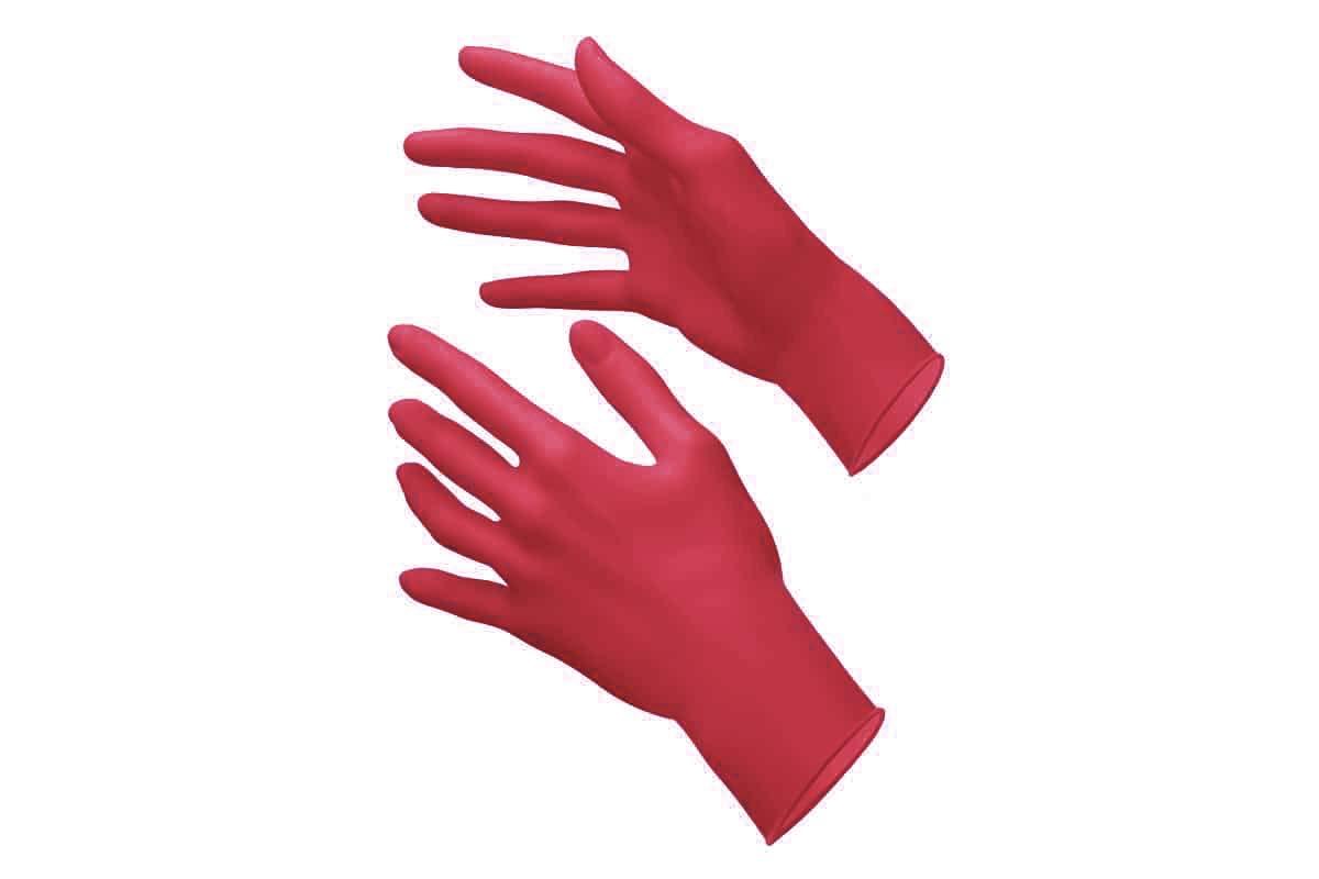 Dentalseven guanti monouso nitrile ROSSI senza polvere senza lattice 100 pezzi S-M-L medicali L