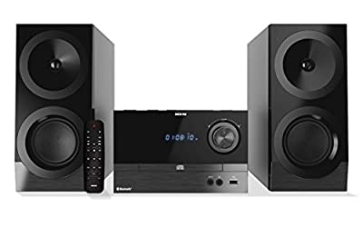 ION Audio Compact Shelf System iAS01 | All-In-One Hi-Fi CD/FM Stereo System with Bluetooth (100W) from Ion Audio - MI