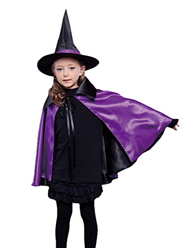 Hamour Kids Reversible Halloween Cloak Cape Costume with