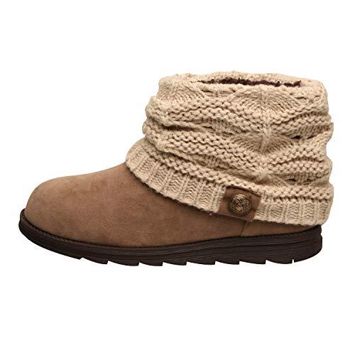 MUK LUKS Women's Patti Ankle Boots Fashion, Beige, 7