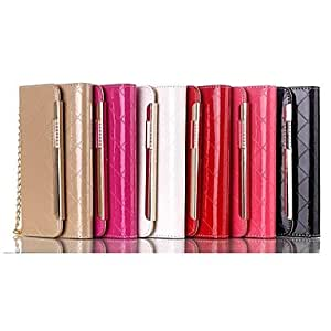 GOG Metal Chain Fashion Handbags PU and TPU Full Body Case with Card for iPhone 6 Plus (Assorted Colors) , Pink