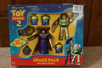 Toy Story Action Figures Set : Amazon disney toy story buzz lightyear space pals bendable