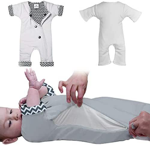 Baby Sleep Suit with Adjustable Ventilation SleepCool System for Transitioning Your Infant from Swaddling - Soft Wearable Blanket and Sleepsuit for Babies Lets Your Baby Move for Infants 3-7 Months
